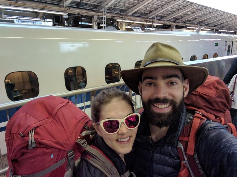 Our final shinkansen to Kyoto