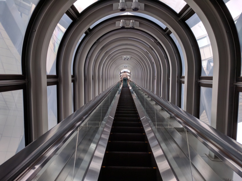 Escalator to the top!